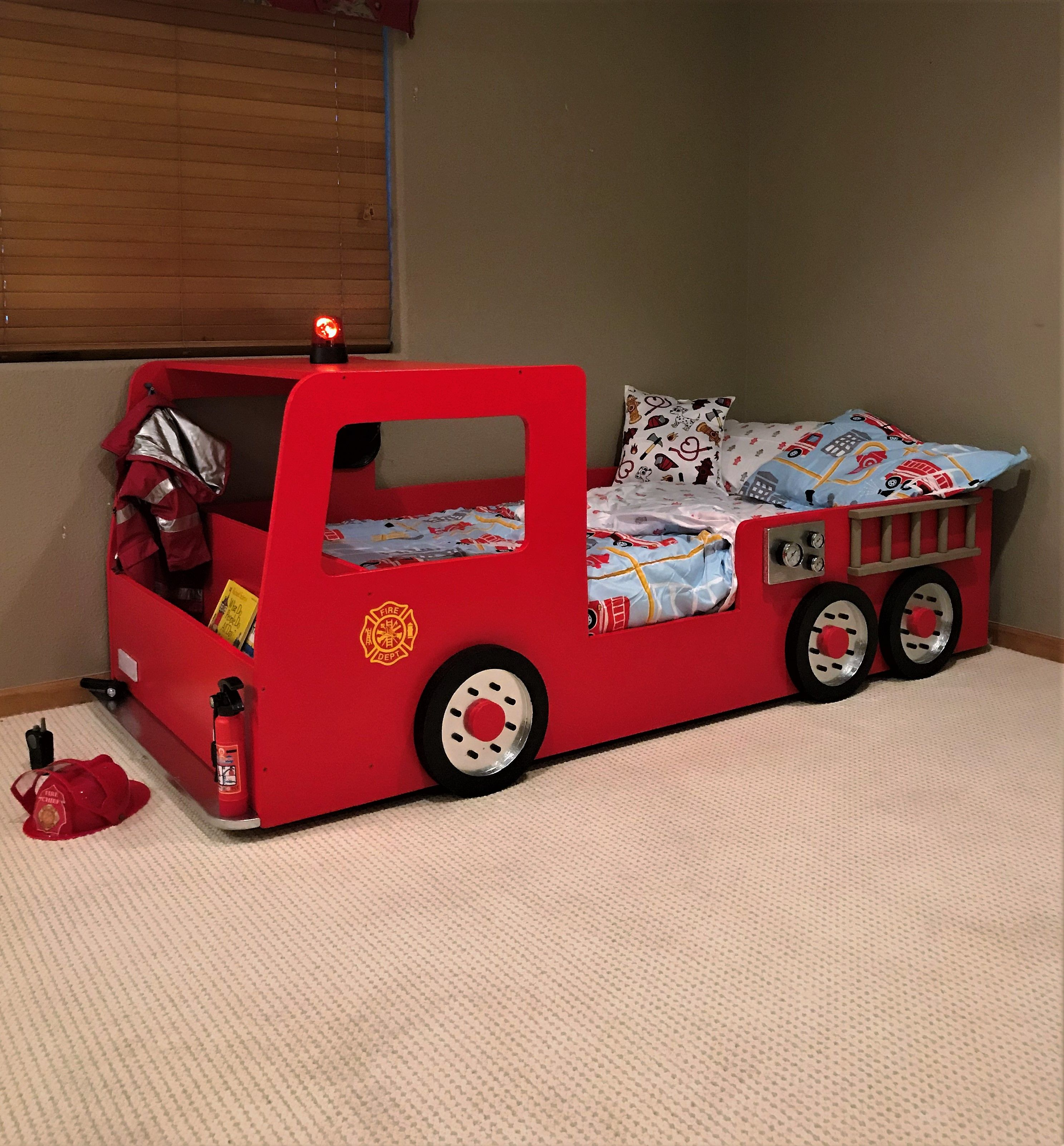 Fire Truck Bed PLANS (pdf format), Create a Fireman Themed