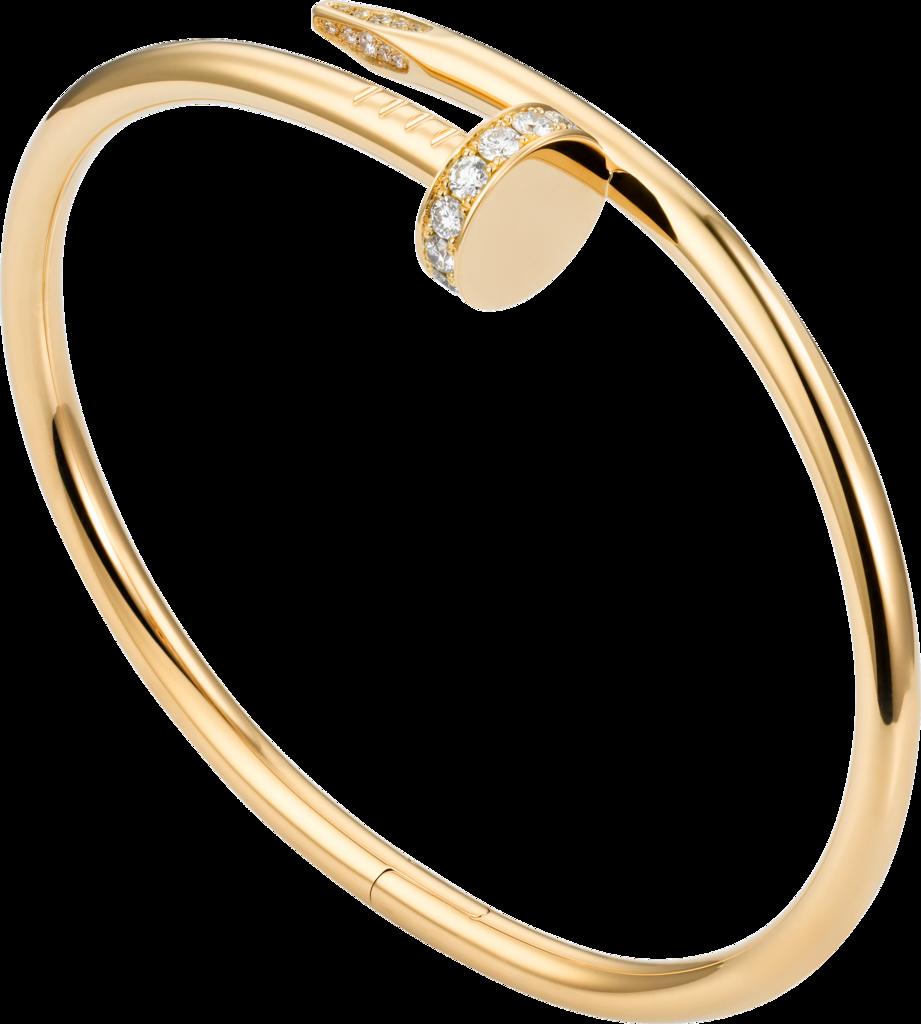 Juste un clou braceletyellow gold diamonds galina a pinterest