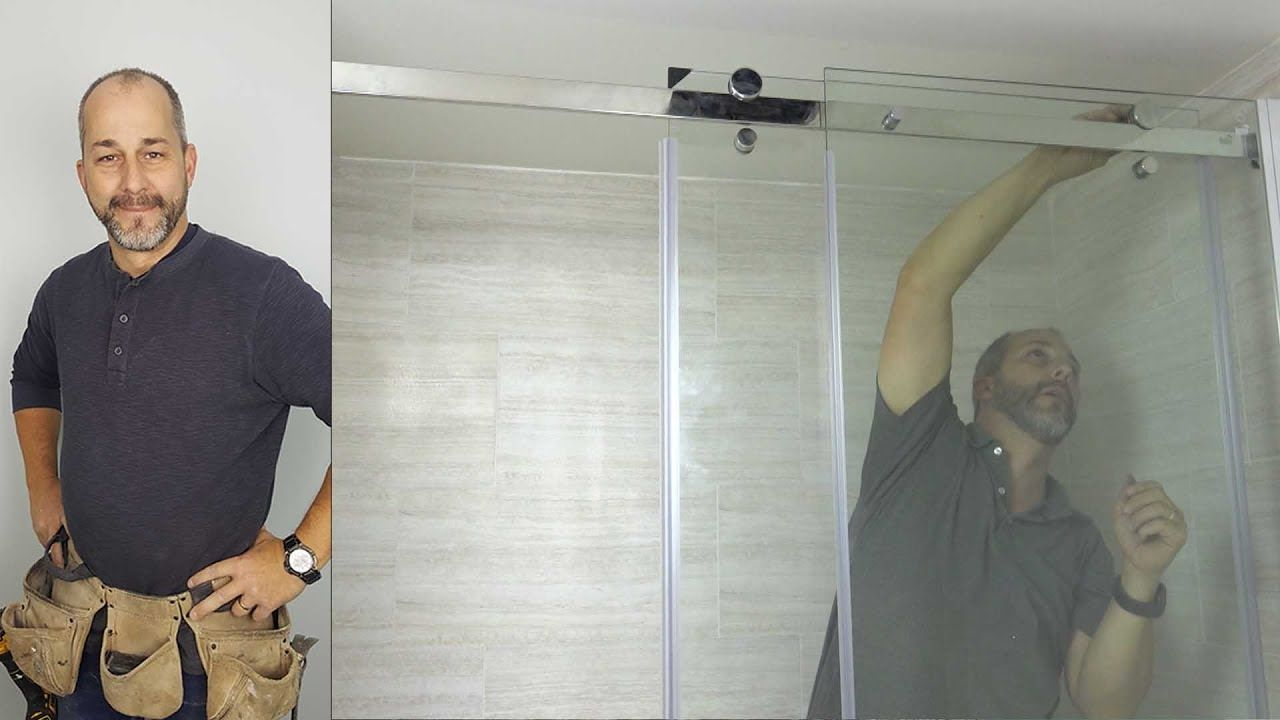 How To Install A Modern Glass Shower Door Kit Youtube Tips And Tricks To Make Your Install Install Glass Shower Door Shower Door Kit Glass Shower Doors