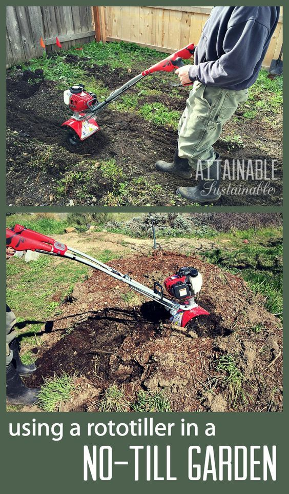 a compact rototiller gets into smaller spaces than big tillers making them great for using in more unconventional ways around the - Use Garden Tiller