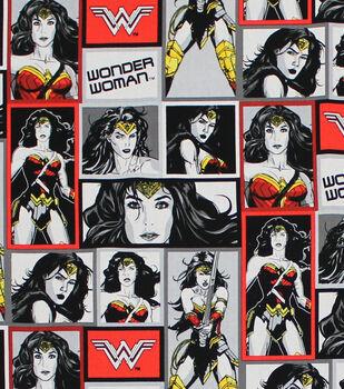 Wonder Woman Many Poses Cotton Fabric 1 yard DC Comics