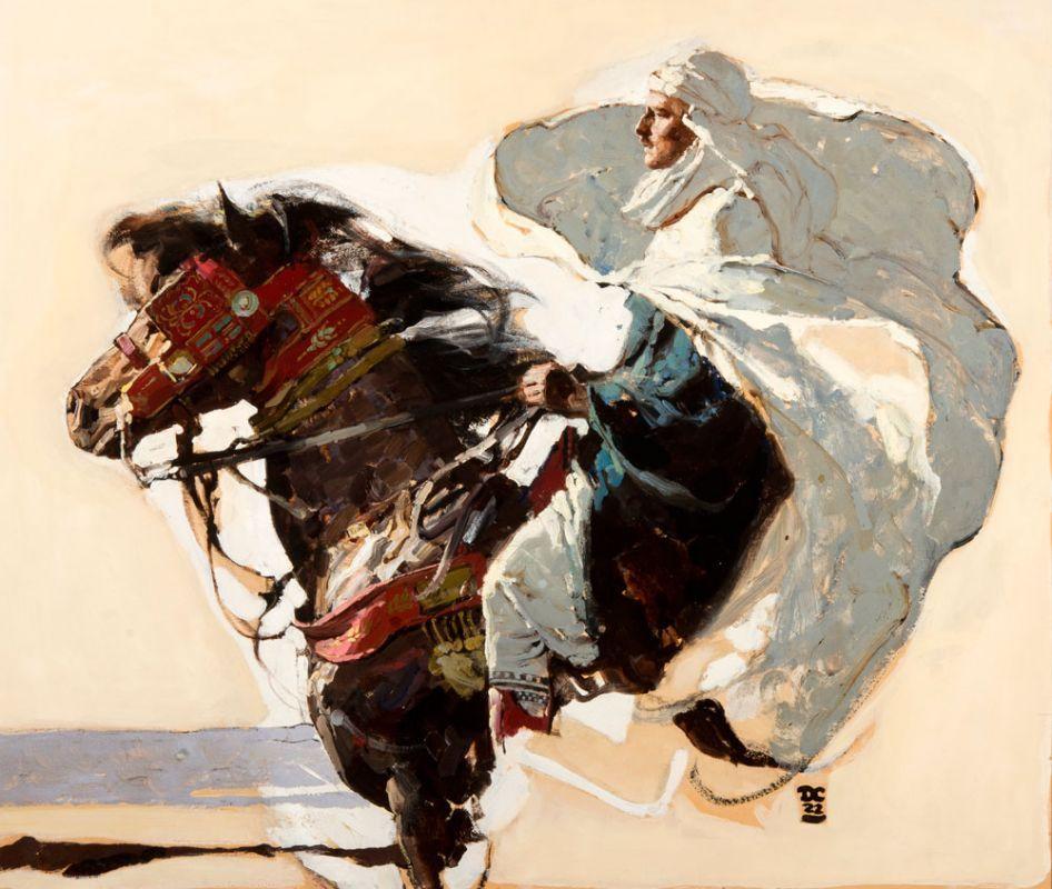 "DEAN CORNWELL The Sheik Oil on Canvas 27.5"" x 32.5"""