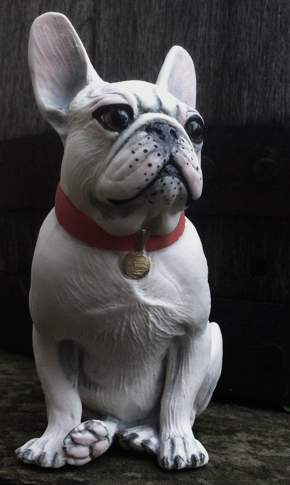 French Bulldog collectable figurine porcelain, hand