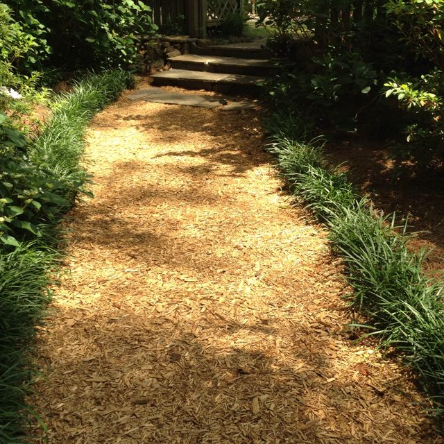 Mulch Pathway With Images Outdoor Gardens Diy Landscaping