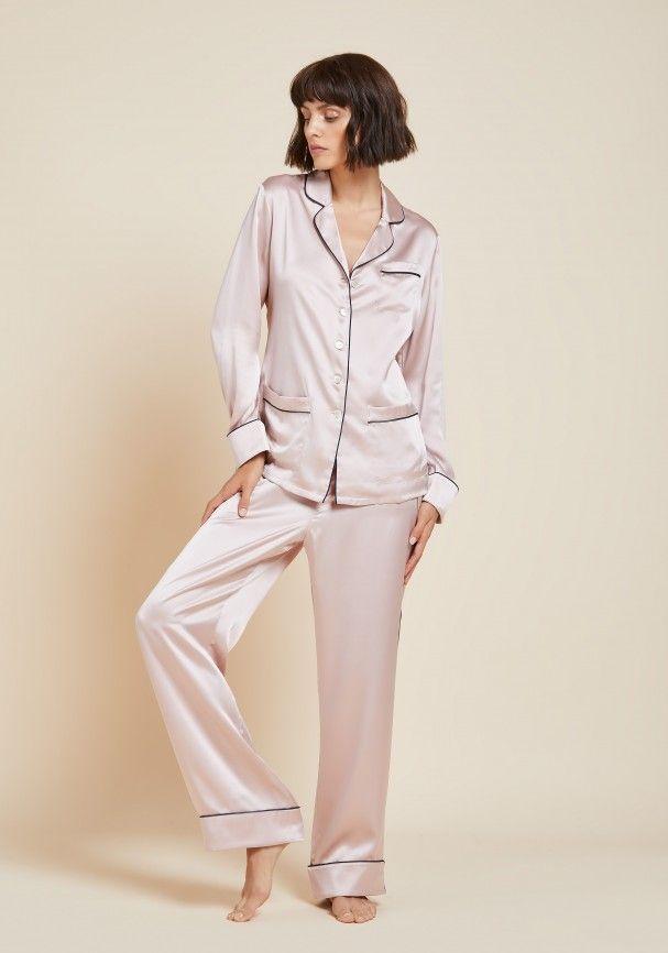 Coco Oyster Silk Pyjama  fdf0f9f8b