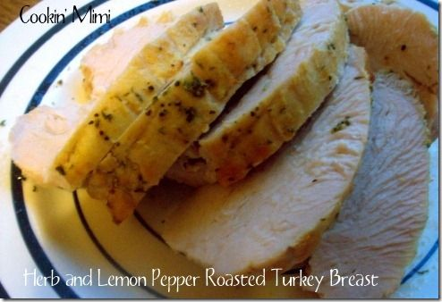 Herb and Lemon Pepper Roasted Turkey Breast