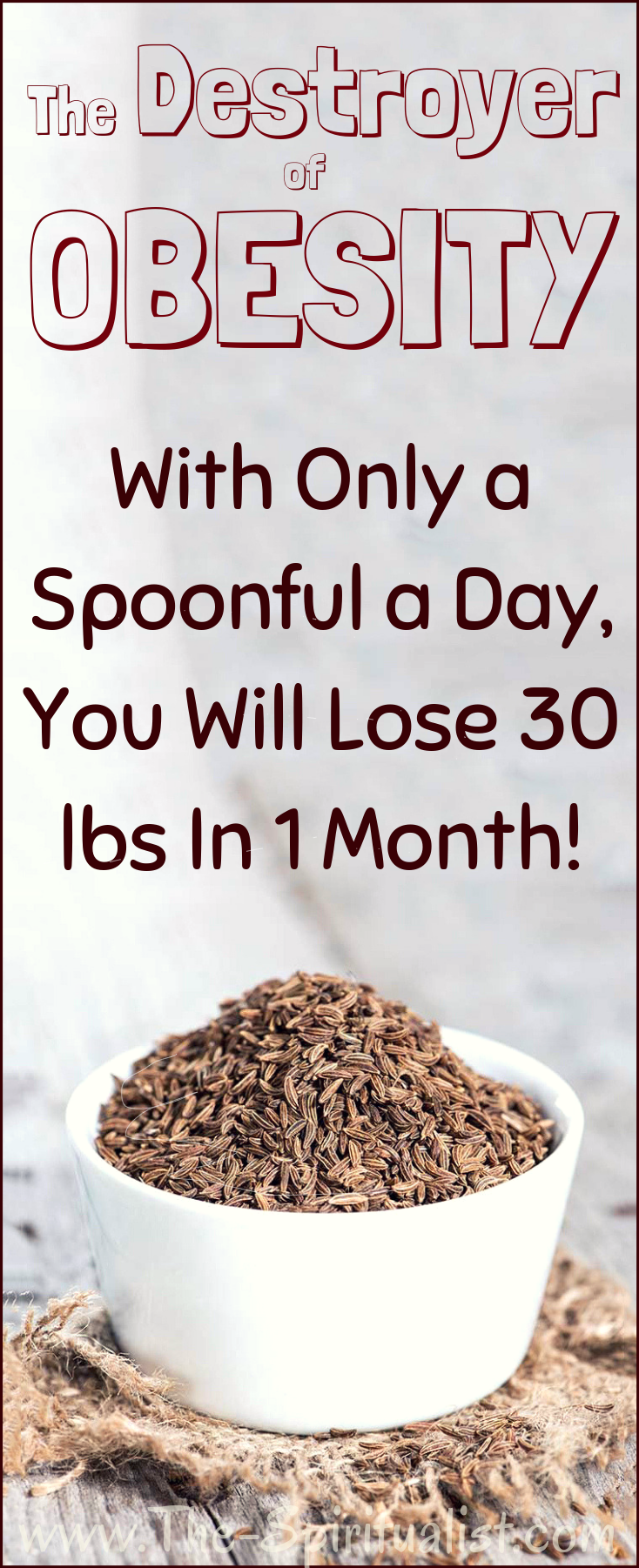 Destroyer of OBESITY - With Only a Spoonful a Day, You Will Lose 30 lbs in 1 Month of OBESITY - With Only a Spoonful a Day, You Will Lose 30 lbs in 1 Month