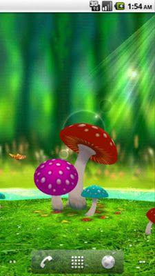 3d Mushroom Garden Free Android Live Wallpaper App Wallpaper