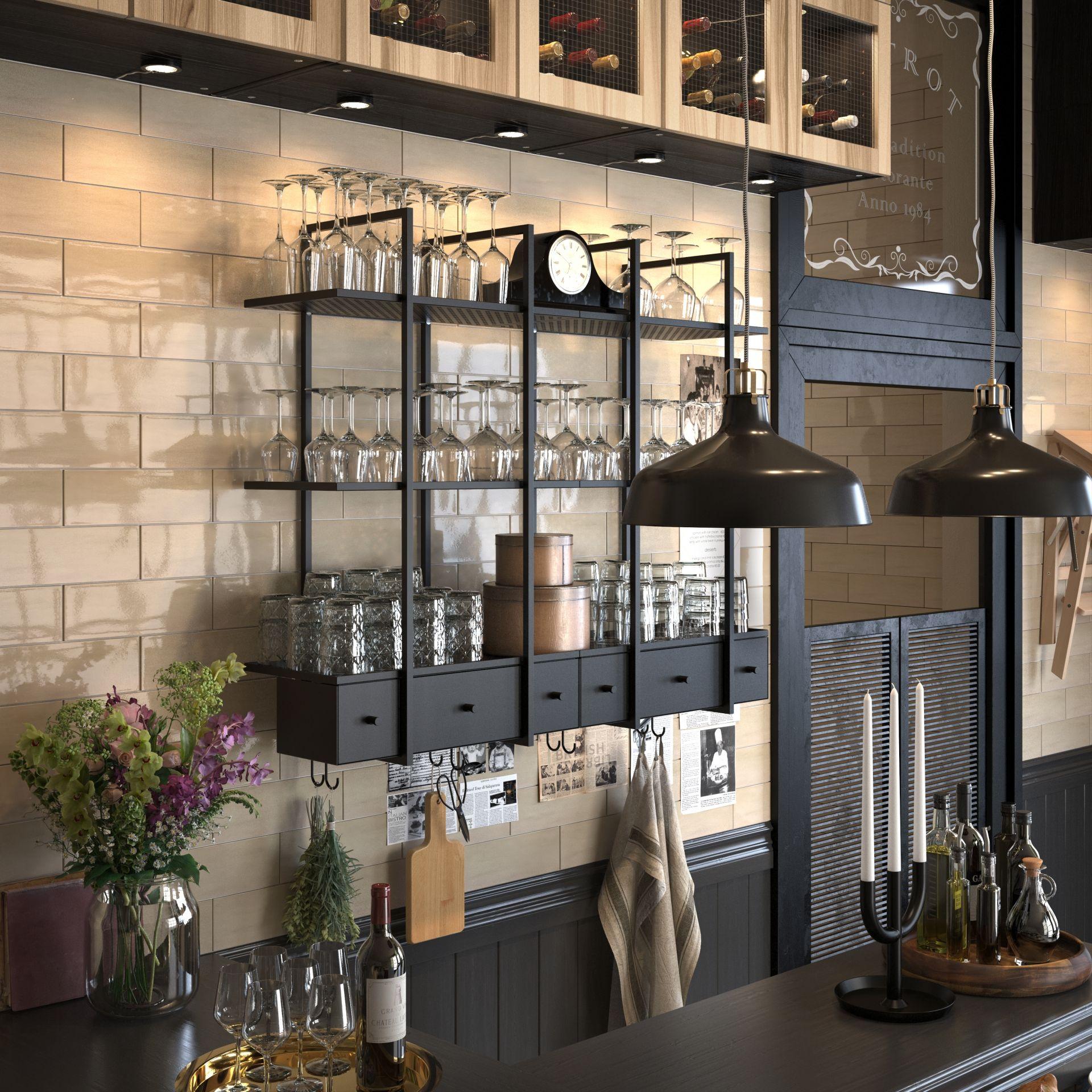 Falsterbo wandplank keuken lades lades en hanglamp for Falsterbo ikea