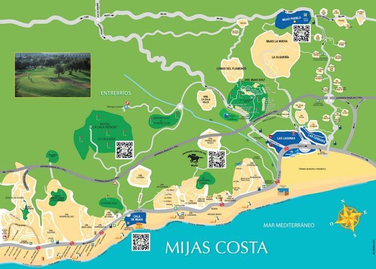 Mijas Costa map