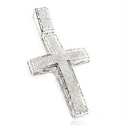 Mens large sterling silver diamond cross pendant 115ct pendants mens large sterling silver diamond cross pendant 115ct mozeypictures Choice Image