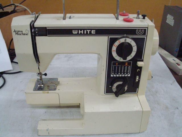 White 40 Precision Built Zigzag Sewing Machine I Am Pretty Sure New Jeans Machine White Sewing Machine