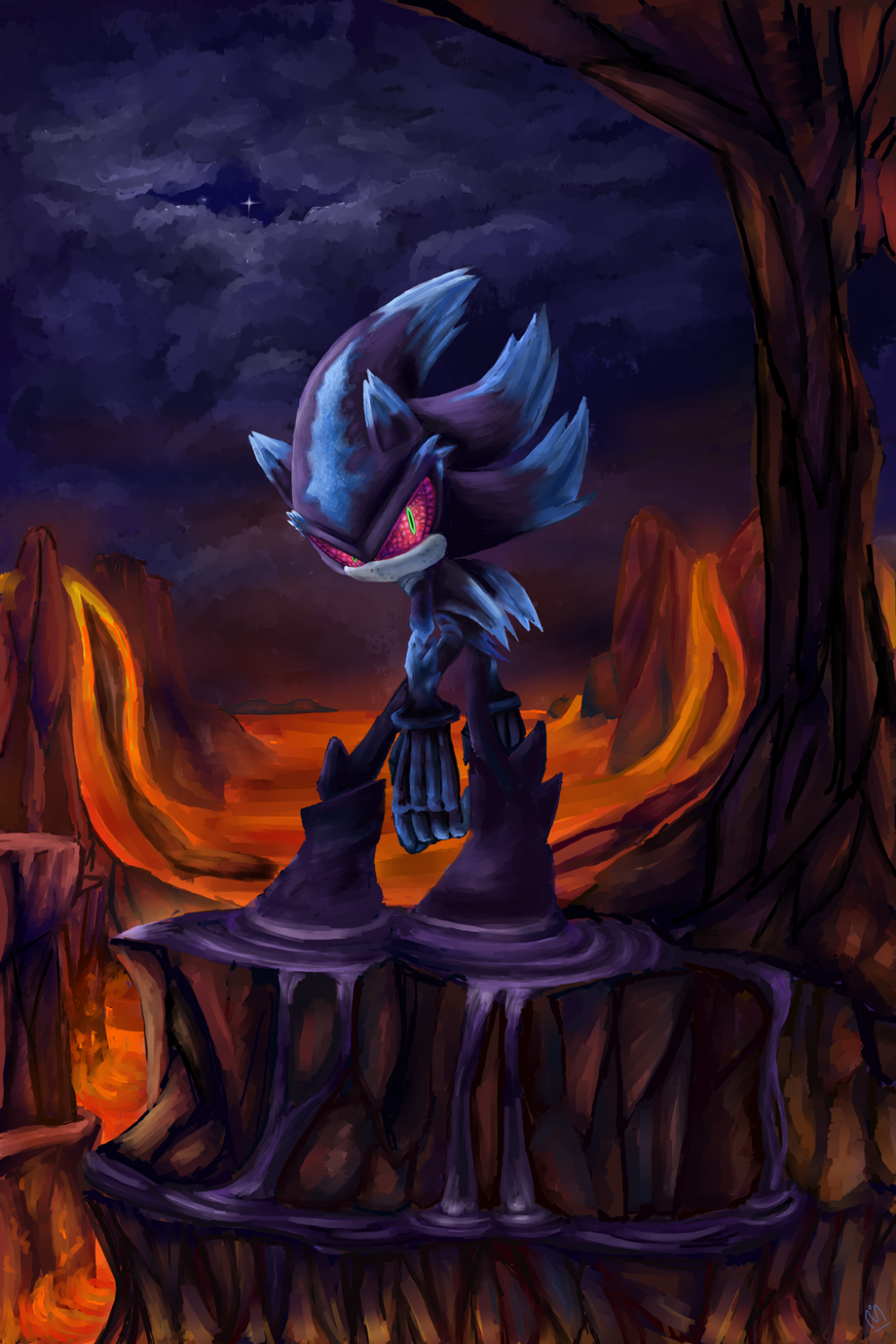 Sonic Mephiles Wallpaper Mephiles The Dark Sonic Shadow Sonic And Shadow Sonic Fan Art Sonic Art