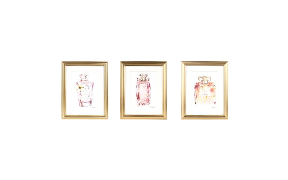 Set of Three Perfume Bottle Framed Prints at Laura Ashley   TLC ...