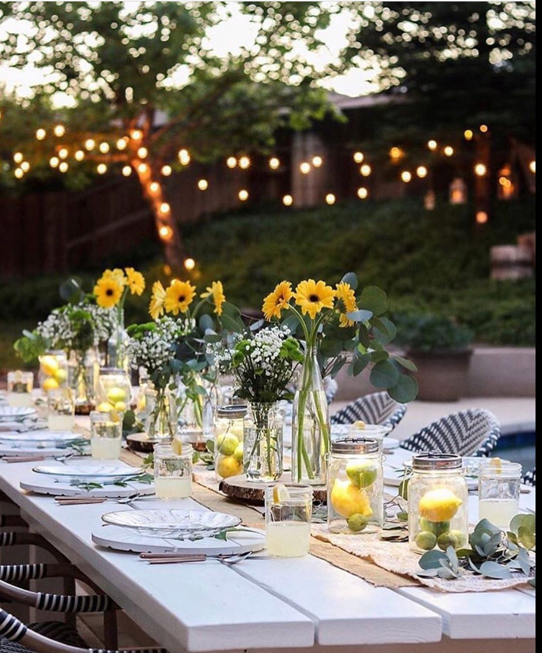 Love Love Tables Set Without Tablecloths Simple And Elegant Summe Backyard Dinner Party Dinner Party Ideas For Adults Birthday Party Decorations For Adults