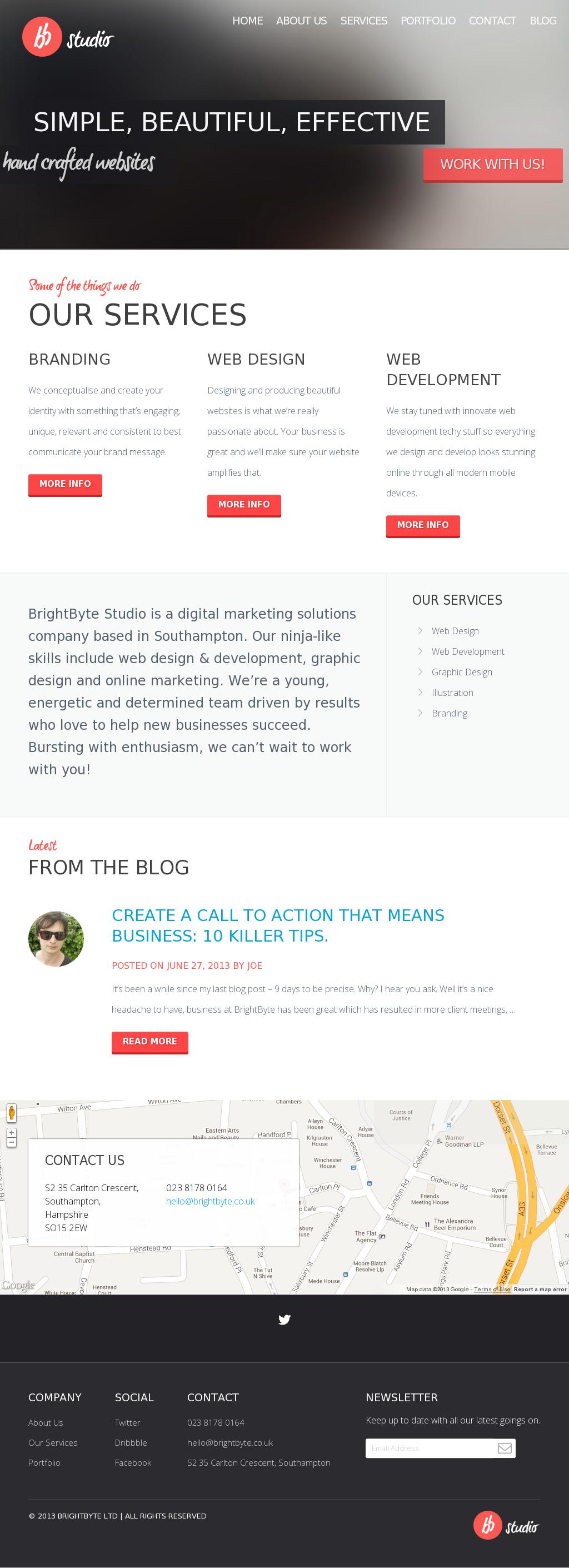 Flat Web Design Using Blurred Background Image Web Design Flat Web Design Web Inspiration