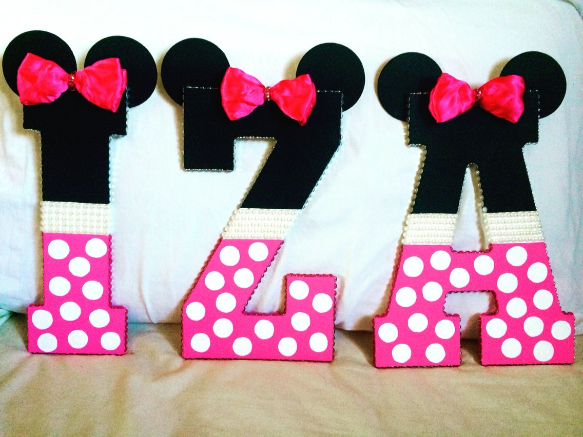 minnie mouse wooden letters hand painted