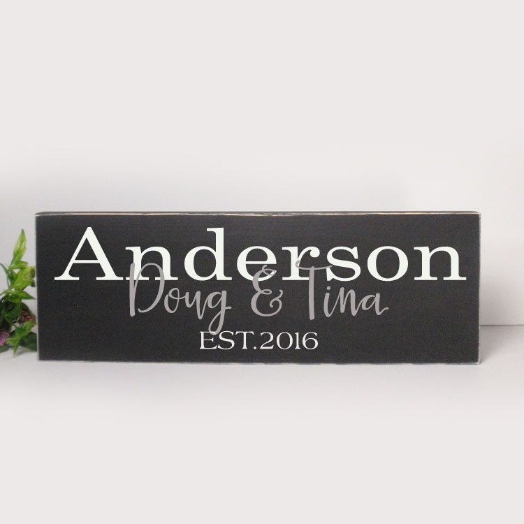 Country Decor Wood Signs Amusing Personalized Name Wedding Established Sign Hand Painted Wooden Design Inspiration