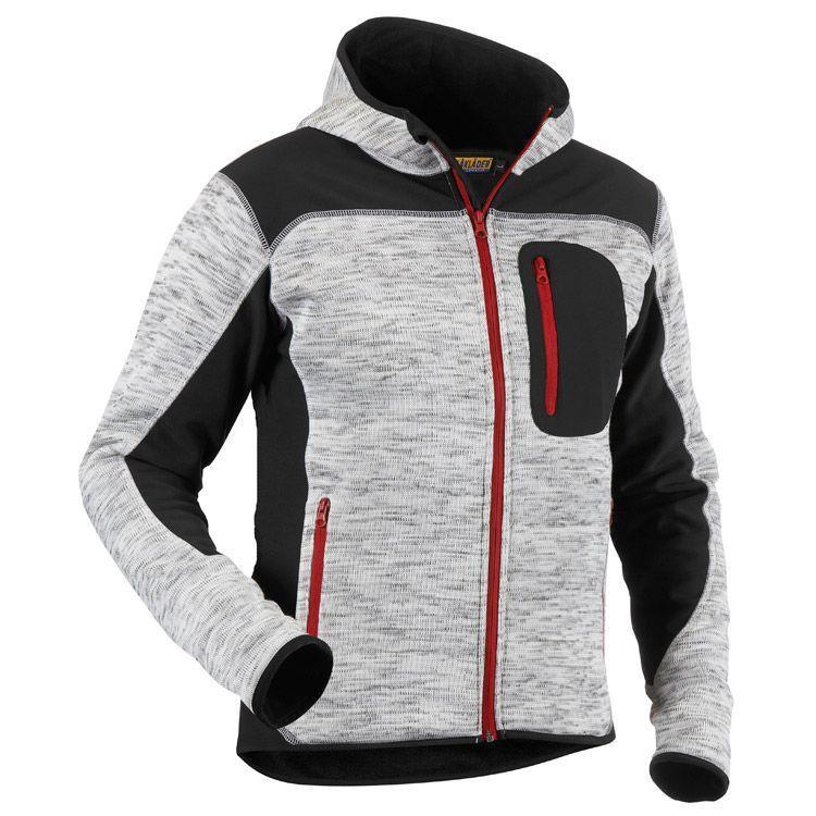 612daf12fb Kötött dzseki Blaklader 4930-2117 100% polyester, 170g/m2 Kényelmes,  divatos kötött kabát kapucnival. A kopásnak kitett helyeken softshell  anyagból készült ...