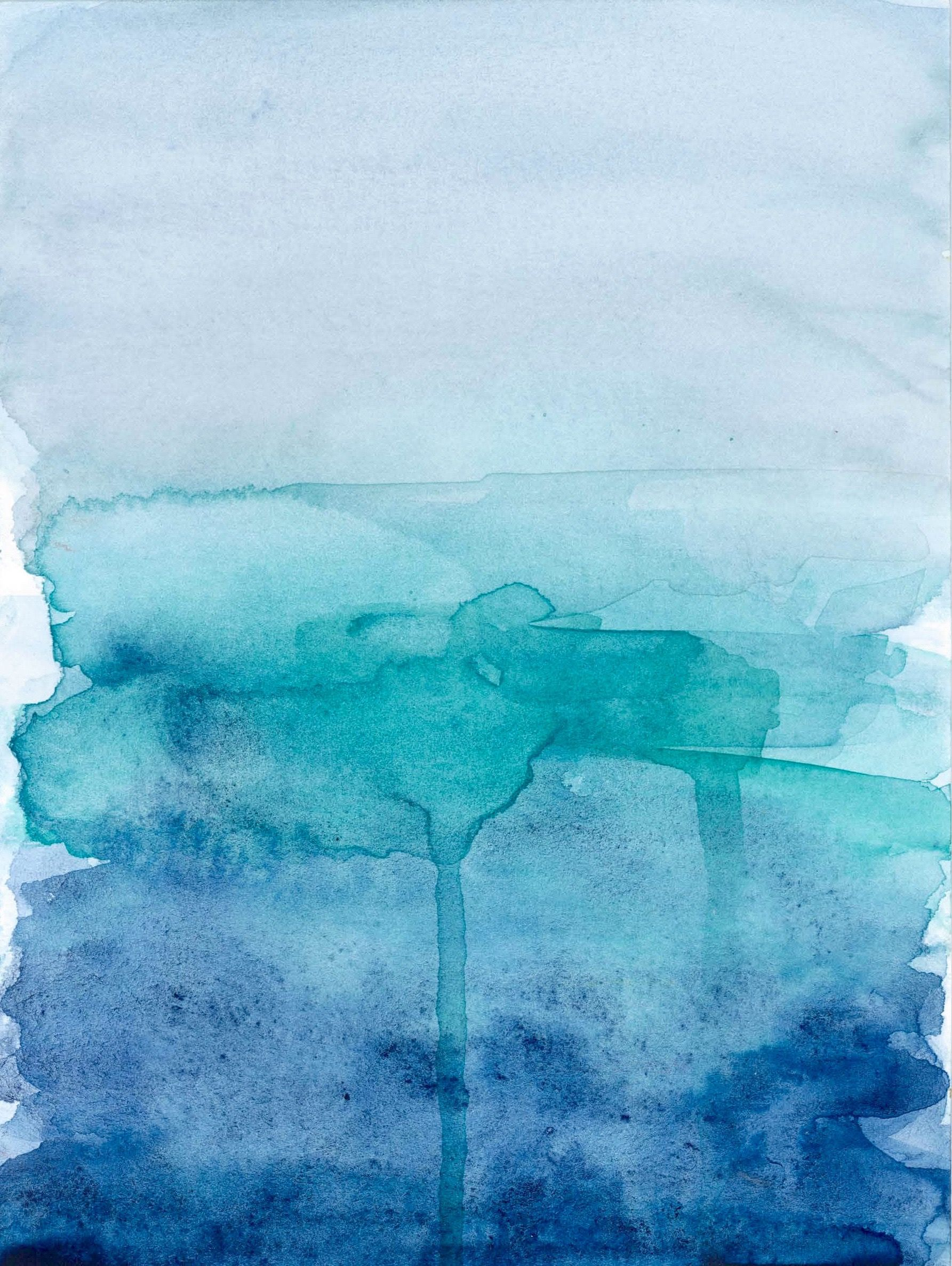blue ombre watercolour | hey, peaches! art | Pinterest ...