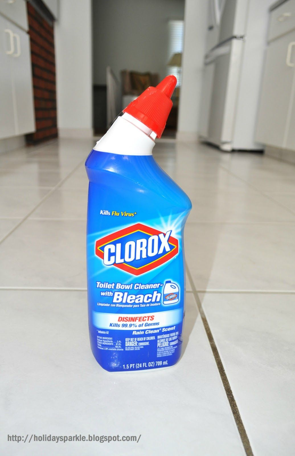 Use Clorox toilet cleaner with bleach to clean grout.... I