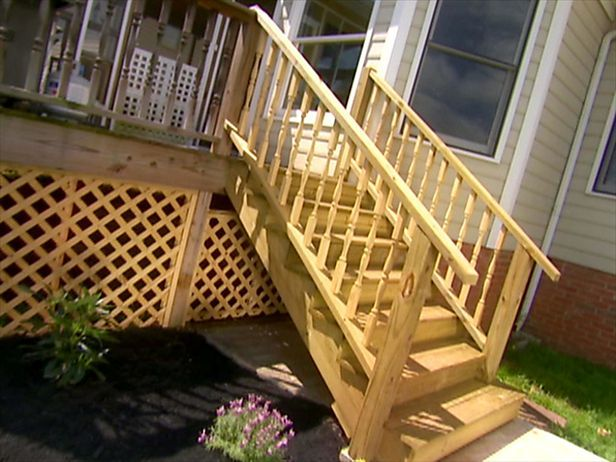 How To Add Stairs To Your Deck Deck Steps Outdoor