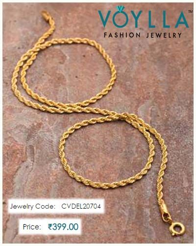 a18c1544f2af  Twisted  Designed  DareByVoylla  Chain For  Men  Price   Rs.