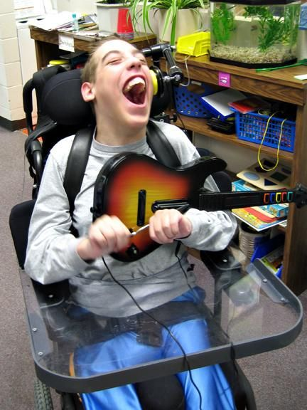 Switch Adapted Guitar For Guitar Hero Accessible Music