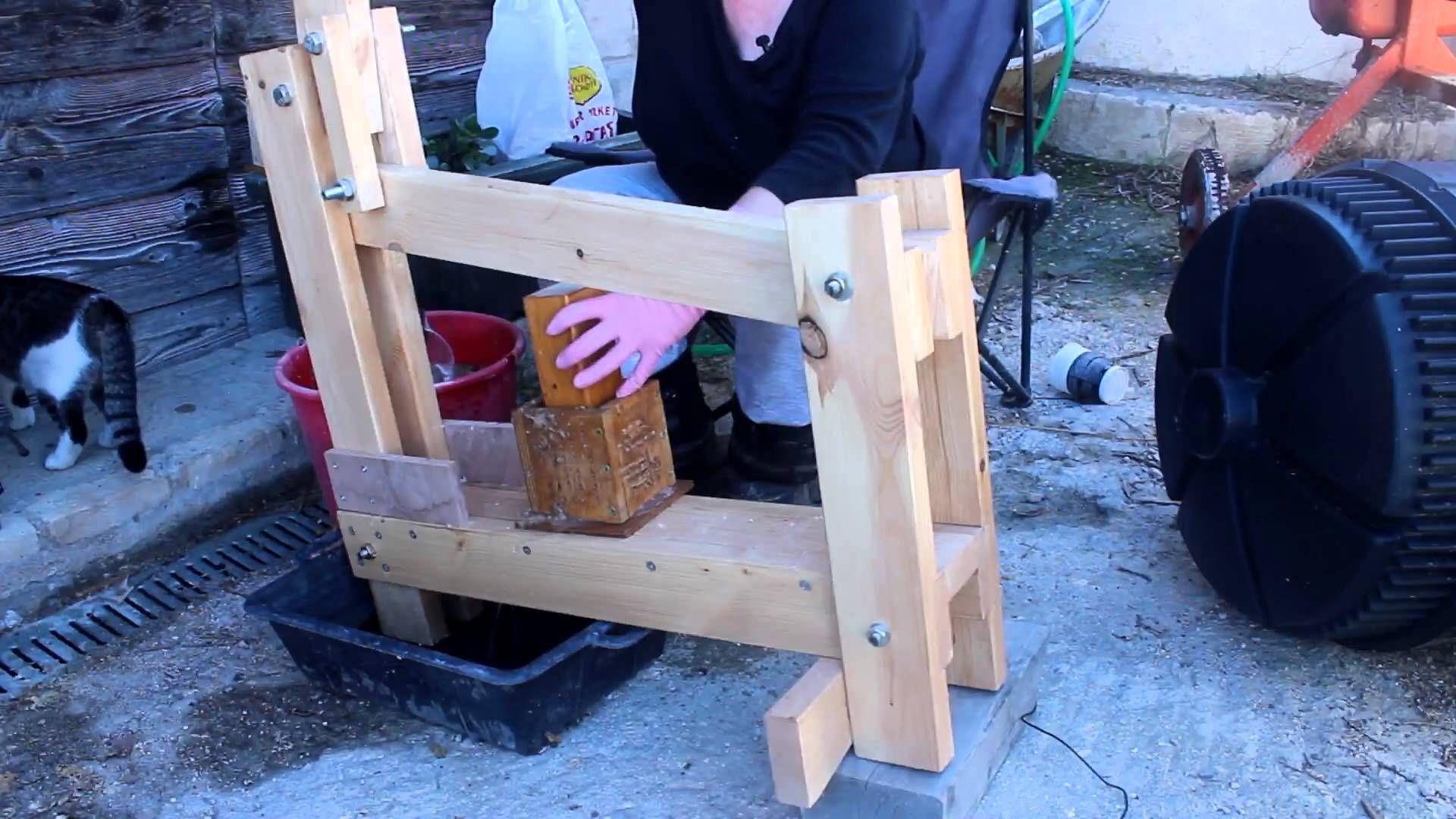 Biomasse brikettpresse mit detailliertem open source