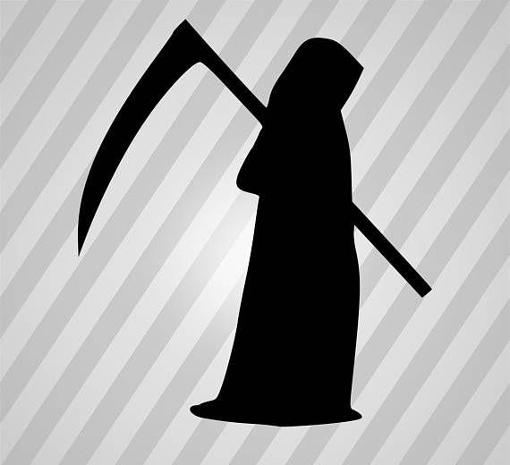 Grim Reaper Silhouette Svg Dxf Eps Rld Rdworks Pdf Png Ai Silhouette Svg Grim Reaper Silhouette