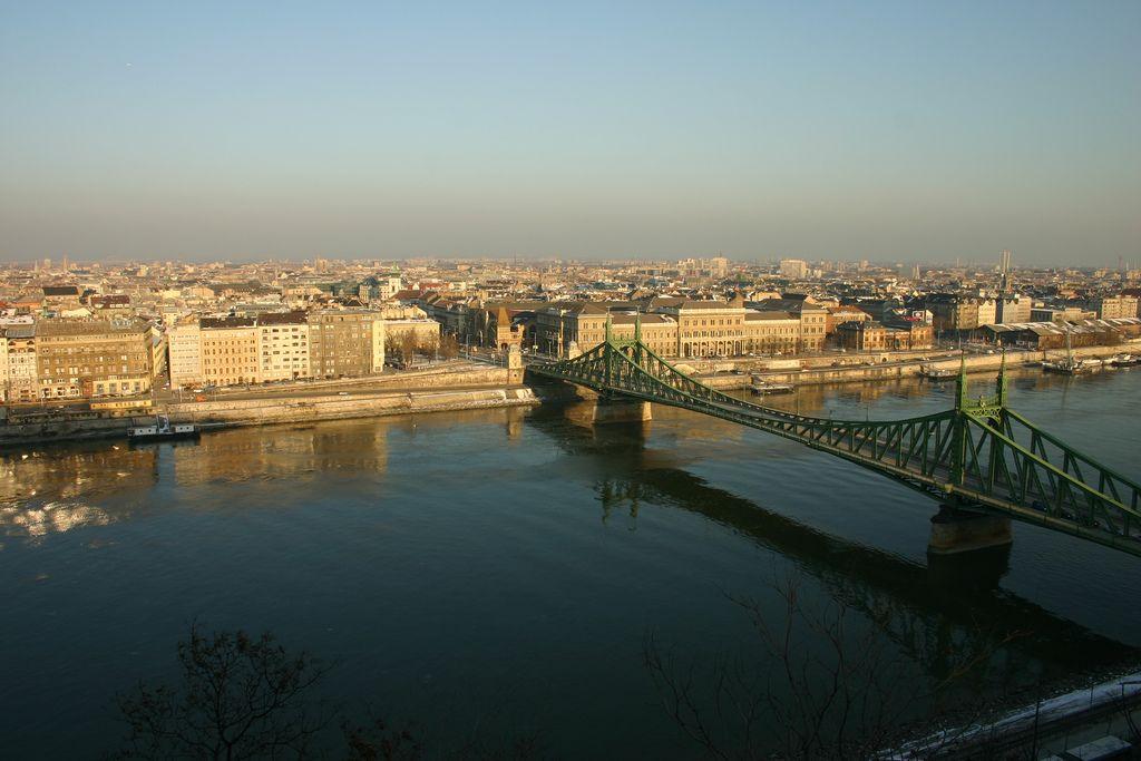 the Szabadság híd (freedom bridge). Budapest