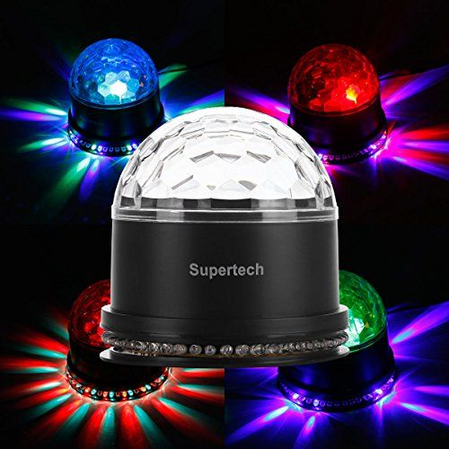 Non-Sound Control Stage Light Colorful Rotating Crystal Magic Ball Laser