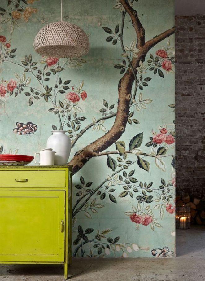 Déco Salon papier peint fleuri pour la chambre à coucher moderne - papier peint pour chambre a coucher