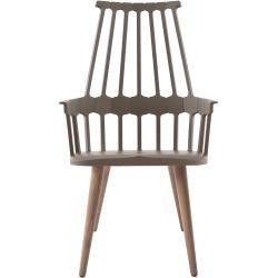 Photo of Kartell Comback 5954, asiento amarillo / patas de silla de madera de fresno Kartell