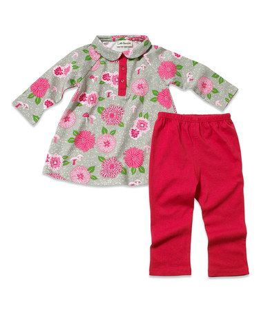 Pink Flower Dress & Pants - Infant & Toddler by Little Youngster #zulily #zulilyfinds