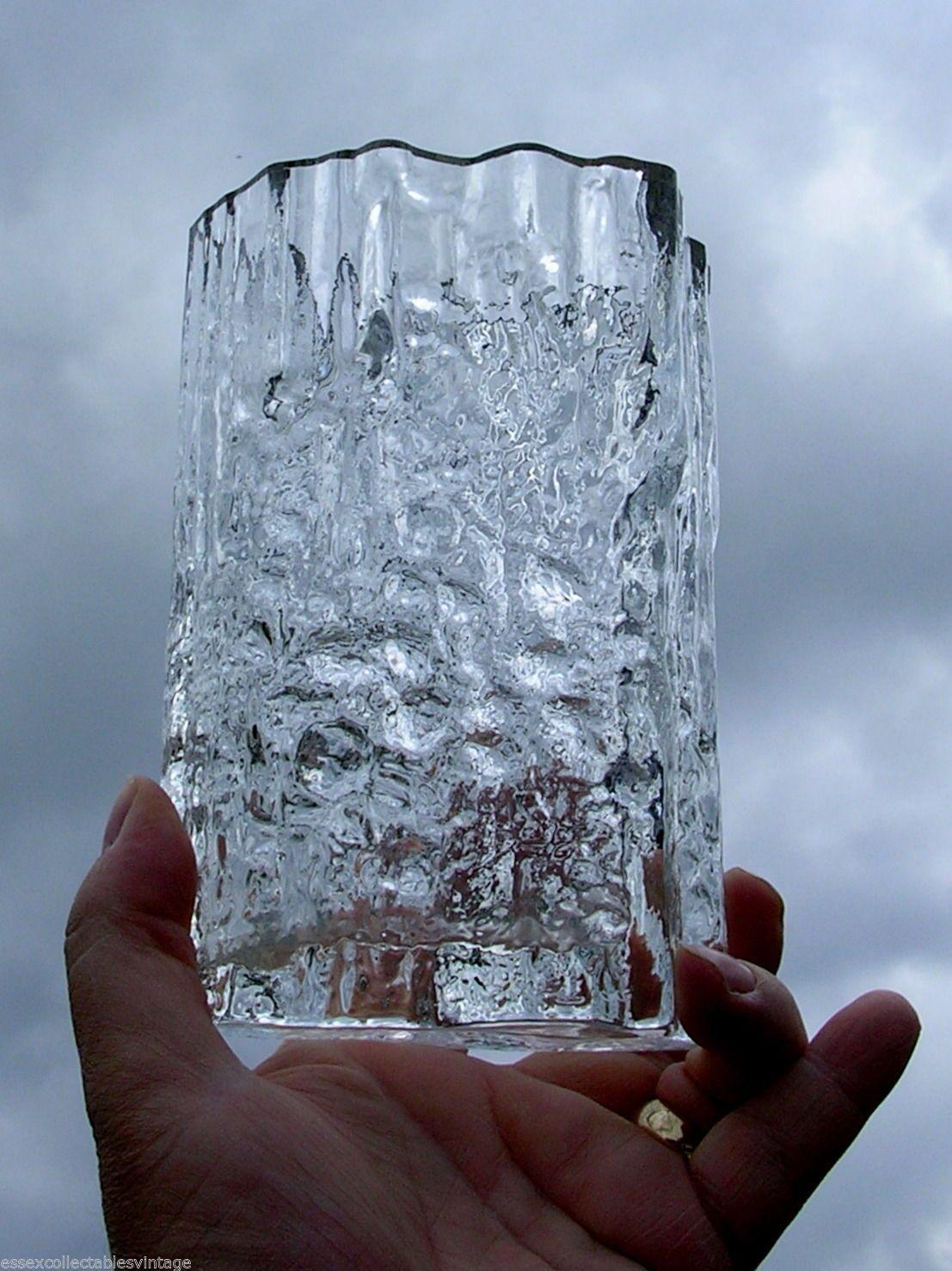 Rare Scandinavian Tapio Wirkkala Iittala Pinus Art Glass Vase Signed Stickered Glass Vase Art Glass Vase Glass