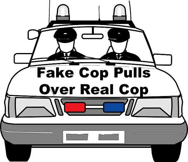 Fake Cop Pulls Over Real Cop Impersonating A Police Officer Police Cars Car Cop Car