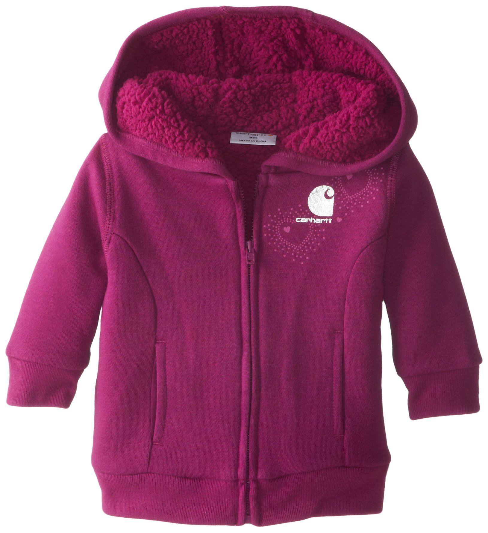 Carhartt Baby-Girls Newborn Brushed Fleece Pant Purple