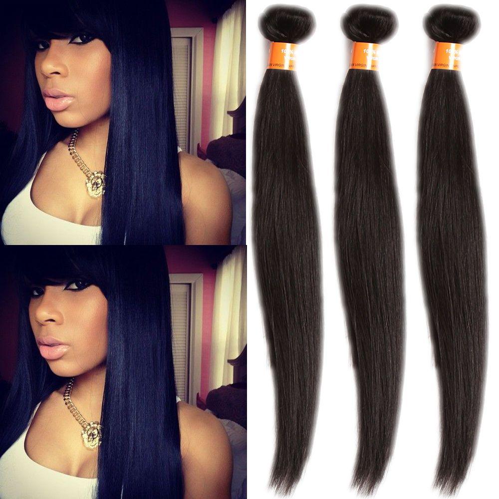 50gbundle Natural Black Indian Straight Real Human Hair Extension