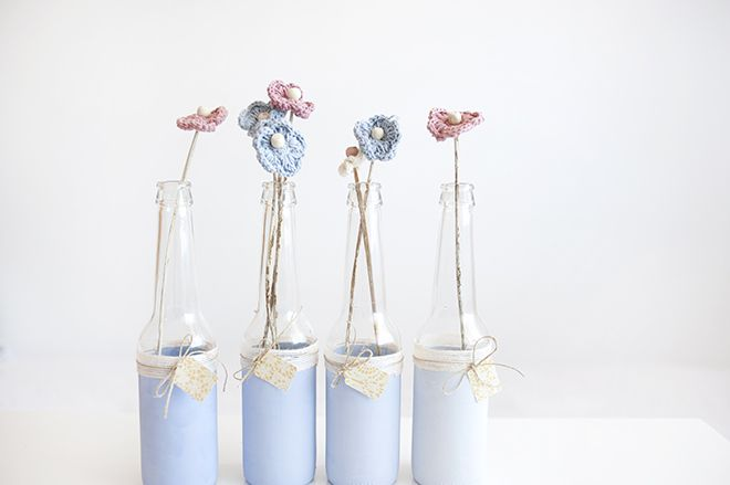 Botellas decoradas con chalk paint (All Lovely Party) | Na Lua Dulce