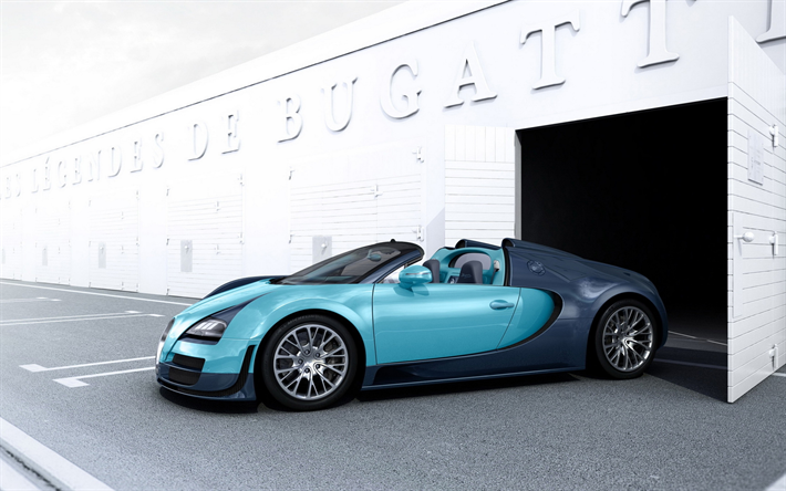 Lataa kuva Bugatti Veyron Grand Sport Vitesse, 4k, hypercars, Bugatti Veyron, sportcars, Bugatti