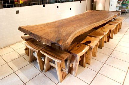 i love large dining tables so you can fit more people around it - Long Wood Dining Table