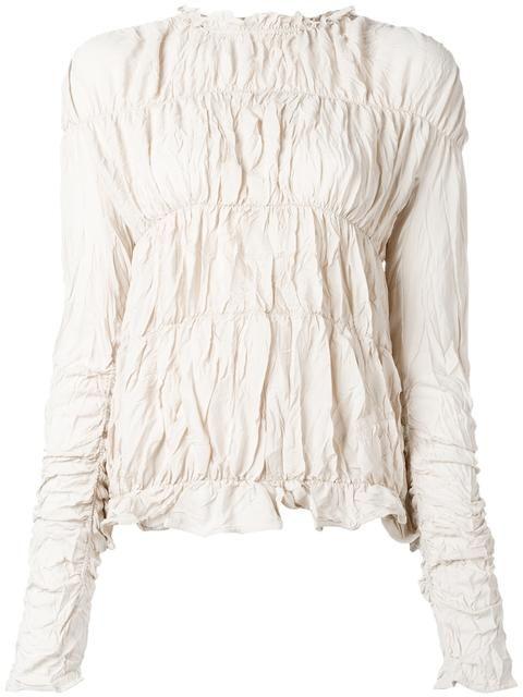MARNI crinkled effect top. #marni #cloth #탑