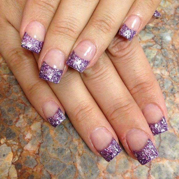 Purple glitter french tip nails davison martin nails purple glitter french tip nails davison martin prinsesfo Images