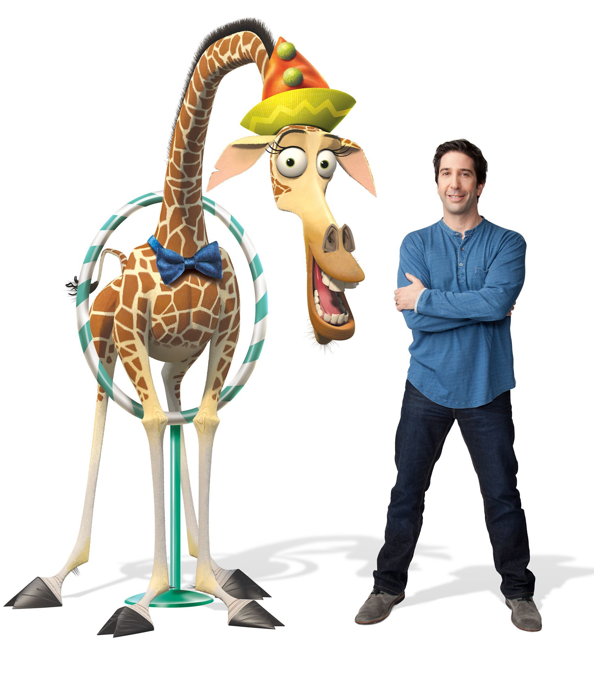 David Schwimmer Voices Melman The Giraffe In MADAGASCAR