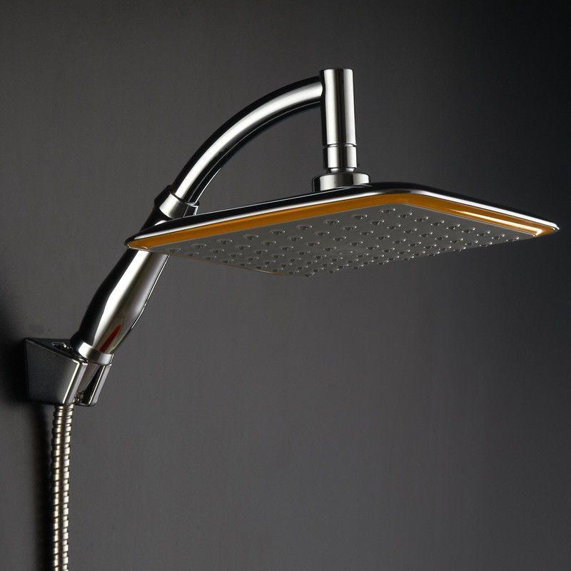 ABS Rainfall Saveing Water Shower Head Extension Shower Arm Set ...