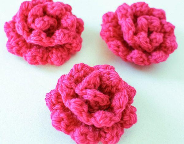 Crochet Rose Pattern Learn How To Crochet A Rose Wreath