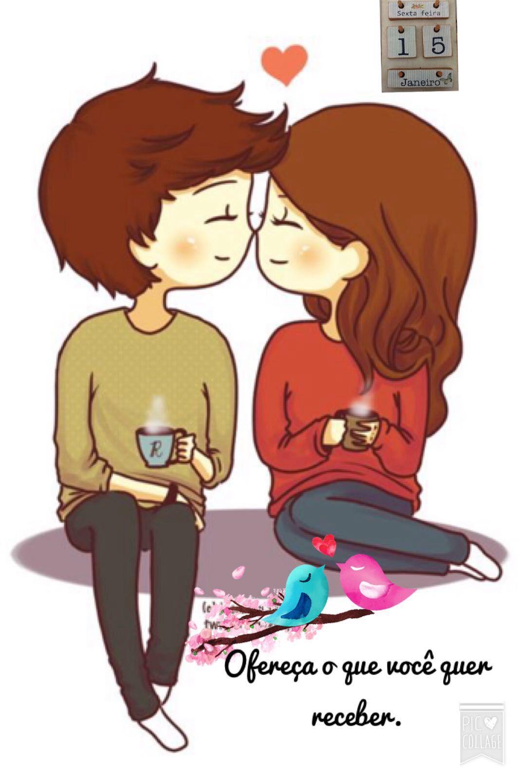 Pin By K J On Calendario 2016 Cute Love Couple Love Cartoon Couple Cute Love Cartoons