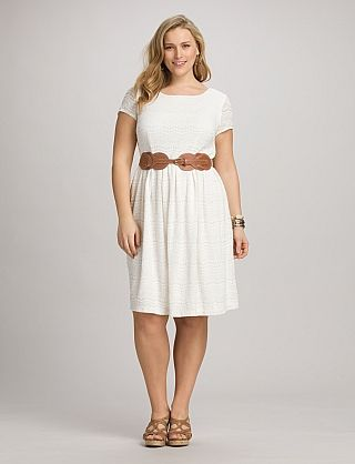 plus size belted lace dress higher waist looks good on