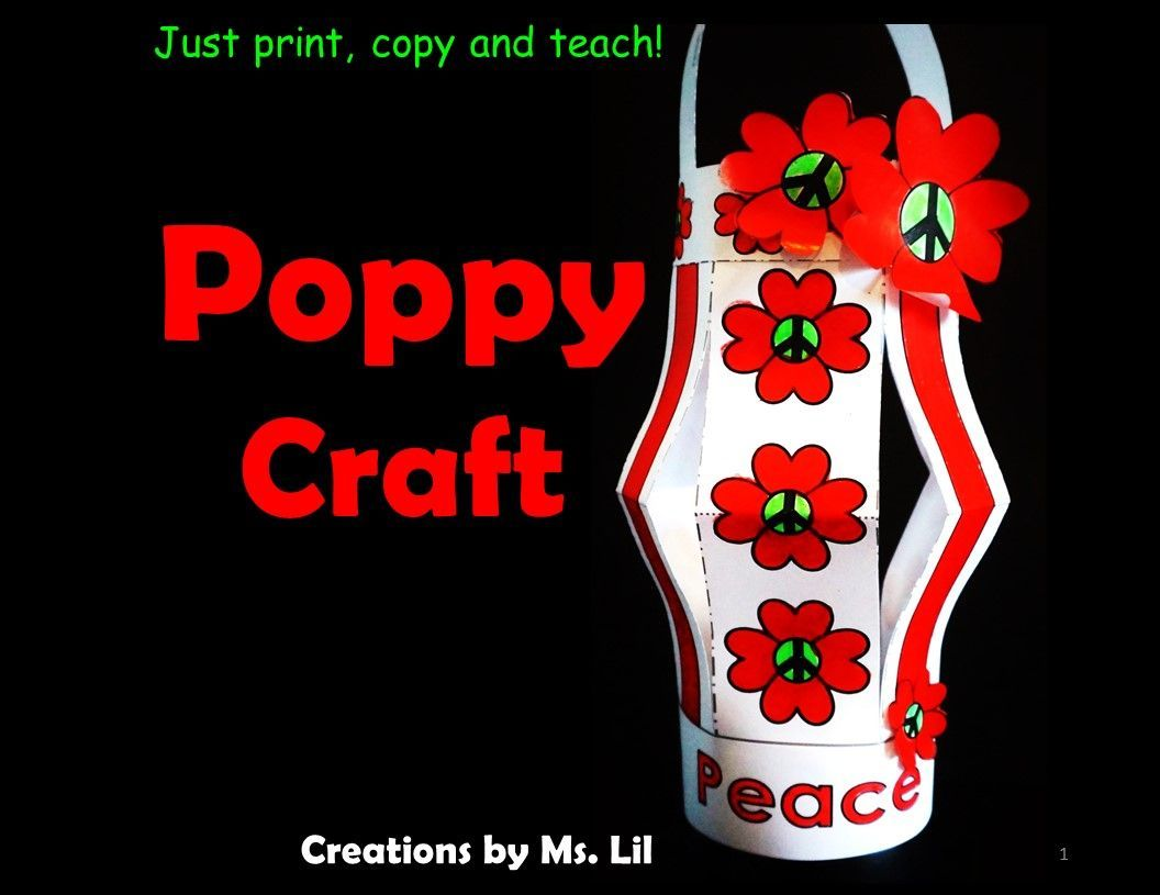 Poppy Craft :: Remembrance Day :: Veterans Day :: Anzac Day :: Peace #remembrancedaycraftsforkids